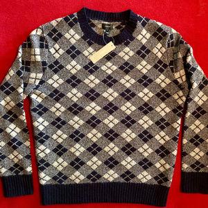 NWT! J. Crew lambswool argyle sweater